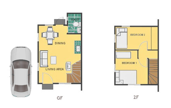 Mika Floor Plan House and Lot in Los Banos