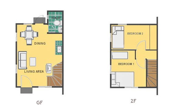 Mikaela Floor Plan House and Lot in Los Banos