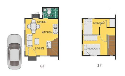 Reva Floor Plan House and Lot in Los Banos