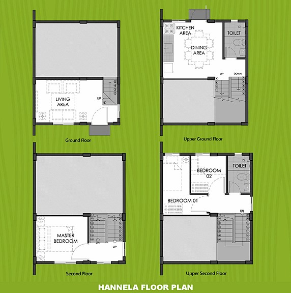 Hannela Floor Plan House and Lot in Los Banos