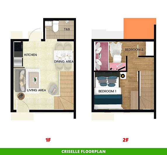 Criselle Floor Plan House and Lot in Los Banos