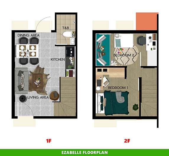 Ezabelle Floor Plan House and Lot in Los Banos