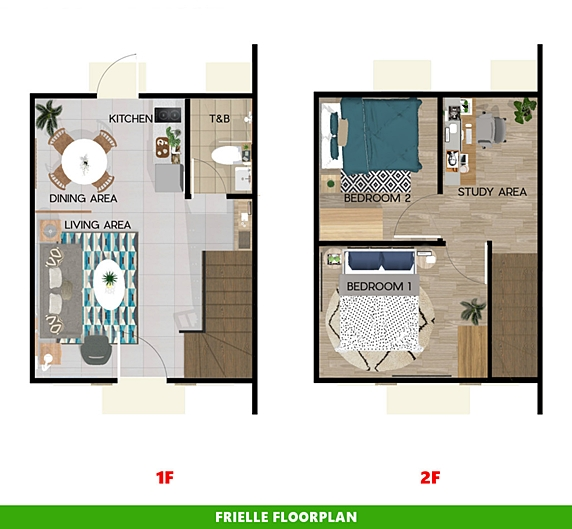 Frielle Floor Plan House and Lot in Los Banos